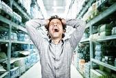 狂気のショッピング — ストック写真