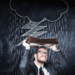 Businessman and bad weather cloud — Stock Photo #50351997