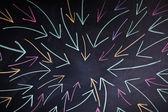 Arrows on blackboard — Stock Photo
