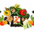 Vegetable dietary panorama — Stock Photo