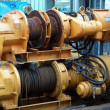 Stock Photo: Two Large Yellow Winches