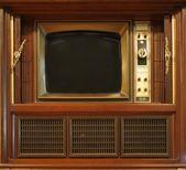 комплект телевидения в стиле ретро — Стоковое фото