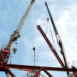 Two Cranes at Construction Site — Stock Photo #13842992