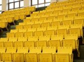 Rows of Yellow Seats — Stock Photo