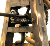Old Machine with Gears — Stock Photo