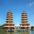 A Pair of Pagodas in Taiwan — Stock Photo