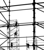 Workers on a Steel Scaffold — Stock Photo