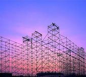 Stora metr scenen konstruktion — Stockfoto