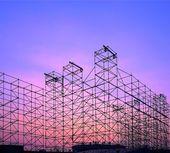 Velké outdor fáze výstavby — Stock fotografie