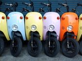 Colorful Scooters for Rent — Stock Photo