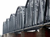 Vintage Iron Railway Bridge — Stock Photo