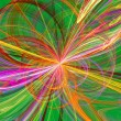 Colorful Fractal Burst of Loops — Stock Photo