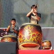 Stock Photo: Native Drummers Perform in Taiwan