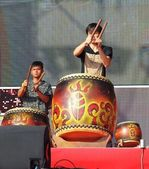 Natives batteurs effectuent à taïwan — Photo