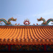 Stock Photo: Decorated Chinese Temple Roof