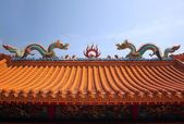 Decorated Chinese Temple Roof — Stock Photo