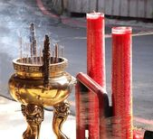Large Incense Burner and Candles — Stock Photo