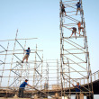 Stock Photo: Workers Erect Stage