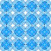 Intricate Blue Tile Pattern — Stock Photo