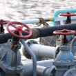 Diesel Supply Ship with Pipes and Valves — Stock Photo #27472251