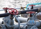 Diesel Supply Ship with Pipes and Valves — Stock Photo