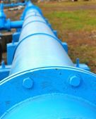 Stora blå pipeline — Stockfoto