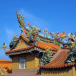 Richly Decorated Chinese Temple Roof — Stock Photo