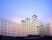 Large Stage Construction for Outdoor Concert — Foto Stock