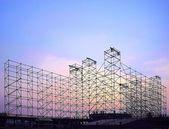 Costruzione del grande palco per il concerto all'aperto — Foto Stock