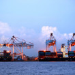 Kaohsiung Container Terminal at Dusk — Stock Photo