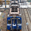 Foto Stock: Blue Electrified Train