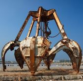 Rusty Obsolete Dredging Equipment — Stock Photo