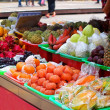 Fruit Stand with a Rich Selection of Tropical Fruits — Photo