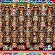 Stock Photo: Richly Decorated Temple Ceiling