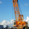 Large Dredging Crane with Scoop — Stock Photo