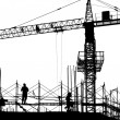 New Building Site in Silhouette — Stock Photo