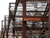 Metal Structure of a Deserted Factory — Stock Photo