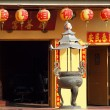 ストック写真: Small Chinese Temple with Colorful Lanterns