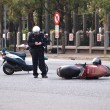 Traffic Accident Involving a Scooter — Stock Photo
