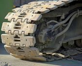 Heavy Duty Tracks of a Construction Machine — Stock Photo