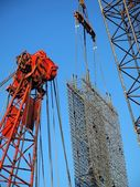 Busy Construction Site with Cranes — Stock Photo