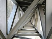 Steel Girder Bridge Seen from Below — Stock Photo