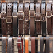 Leather Belts for Sale — Stock Photo