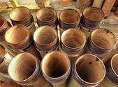 Ceramic Sewage Pipes — Stock Photo