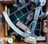 Vintage Sextant for Navigation — Stock Photo