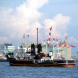 Ships and Cranes in Kaohsiung Harbor — Stock Photo #8019393