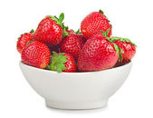 Bowl with strawberries — Stock Photo