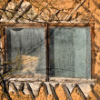 Old dirty window - Stock Photo