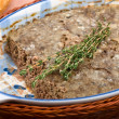 Chicken pate with meat and liver — Stock Photo