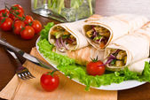 Image of a doner kebab close-up — Stock Photo